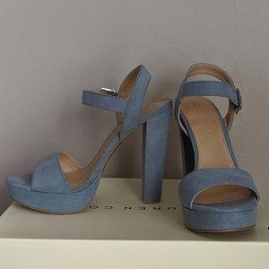 Lauren Conrad blue suede heels